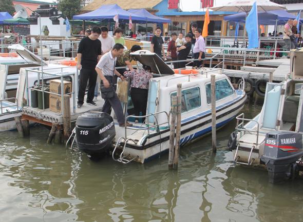 阳澄湖农家乐的快艇码头